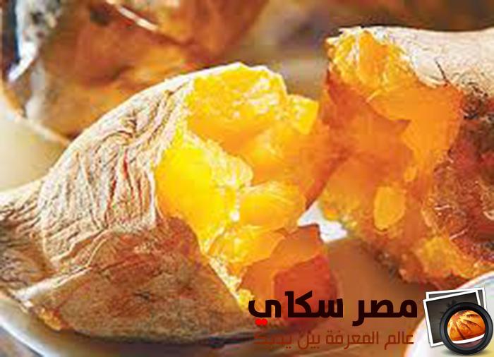 طريقة عمل البطاطا الحلوة المشوية