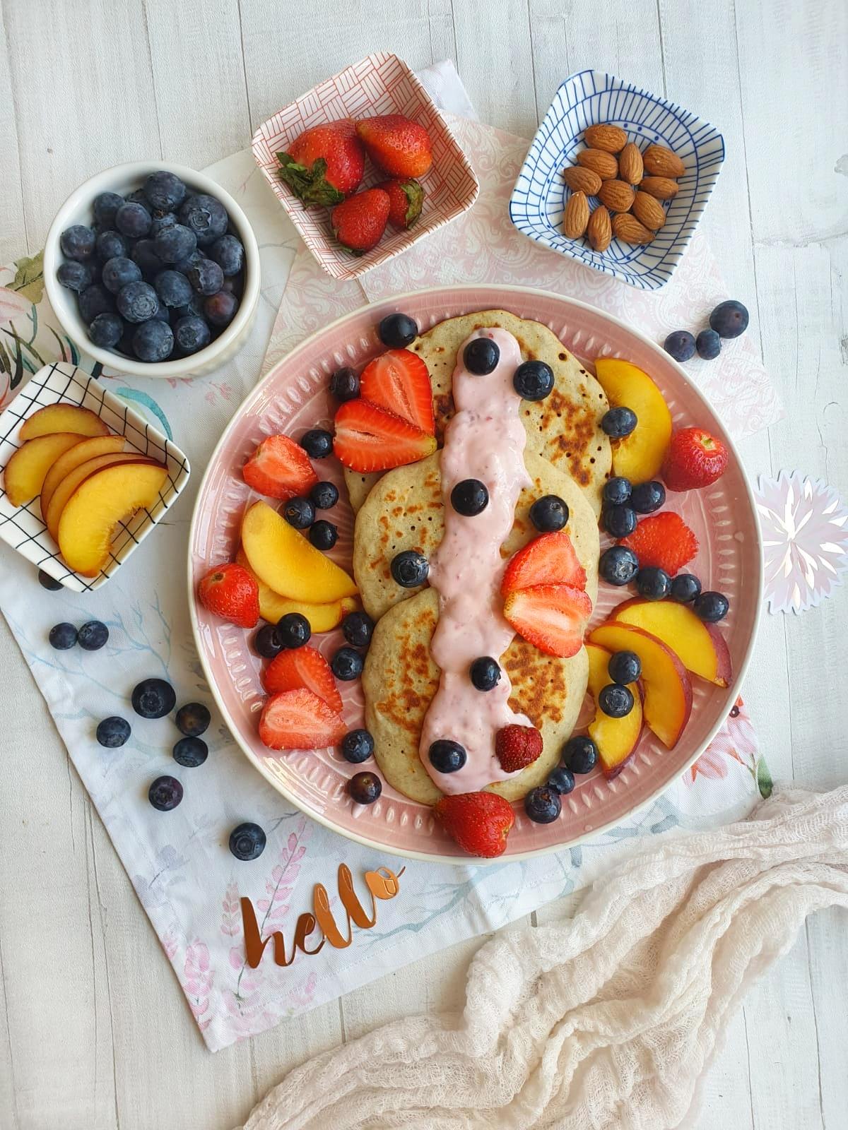 Śniadaniowe placki bananowe, bezglutenowe, bez cukru