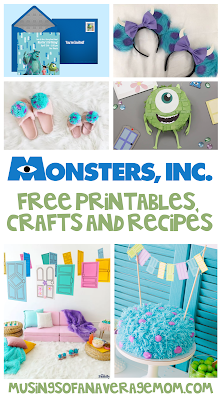 Monsters inc free printables