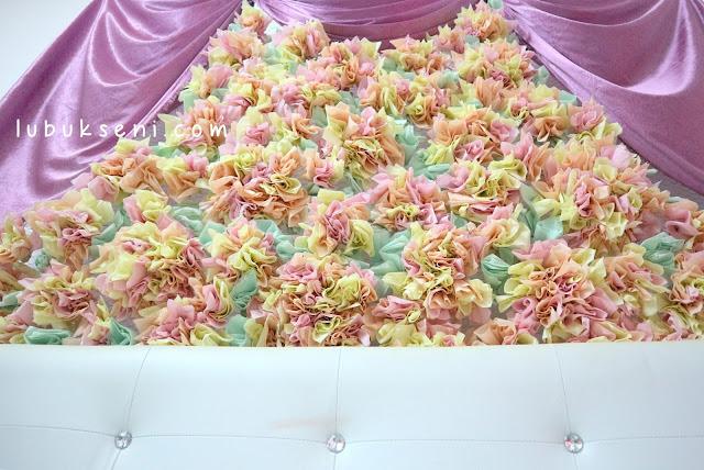 bilik pengantin guna tisu