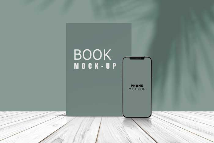 Phone Book Stand Preview Mockup