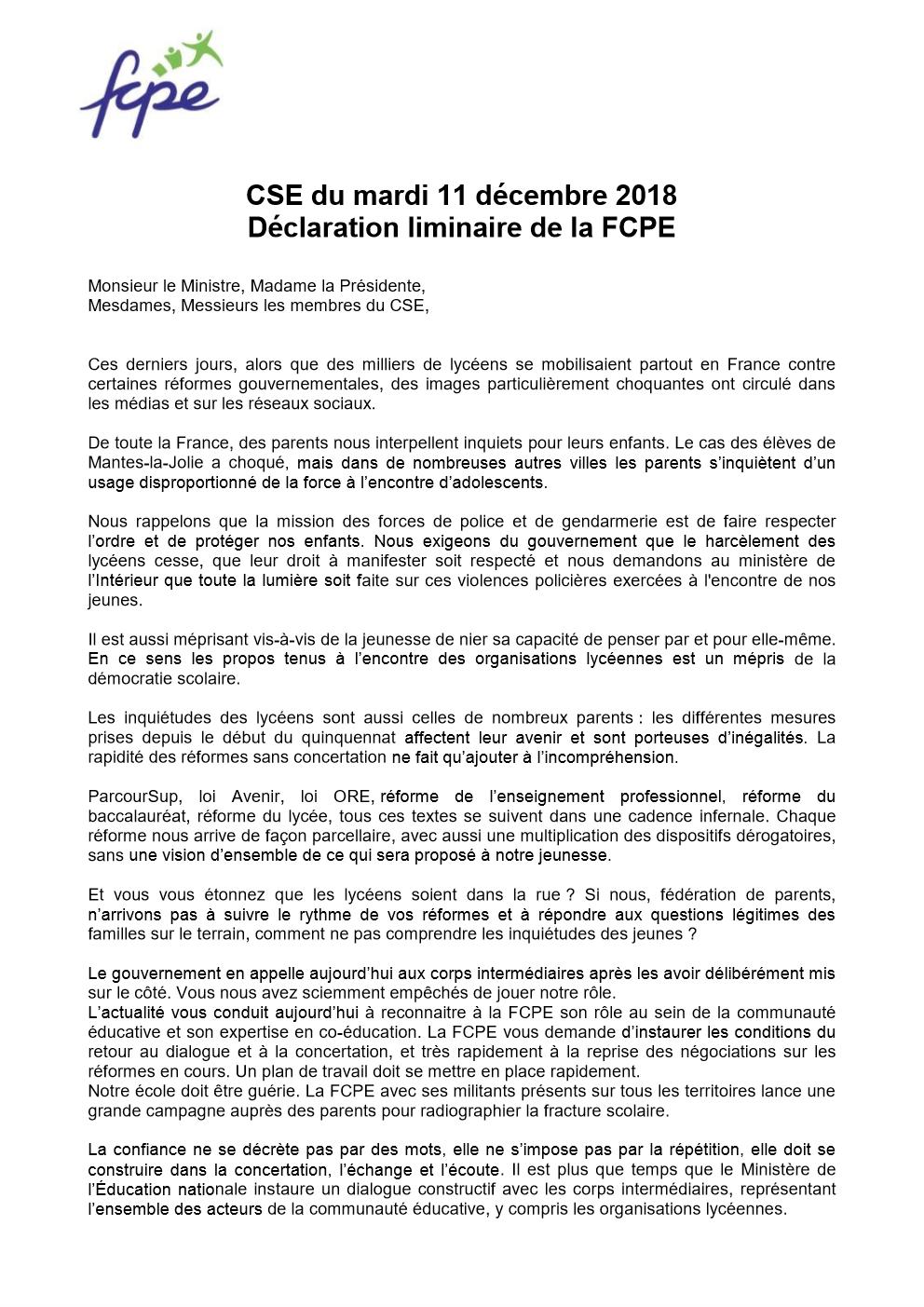 Association Des Parents Delèves Fcpe Du Lycée Max Linder De