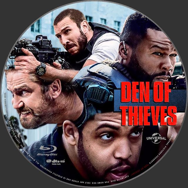 Den Of Thieves Bluray Label