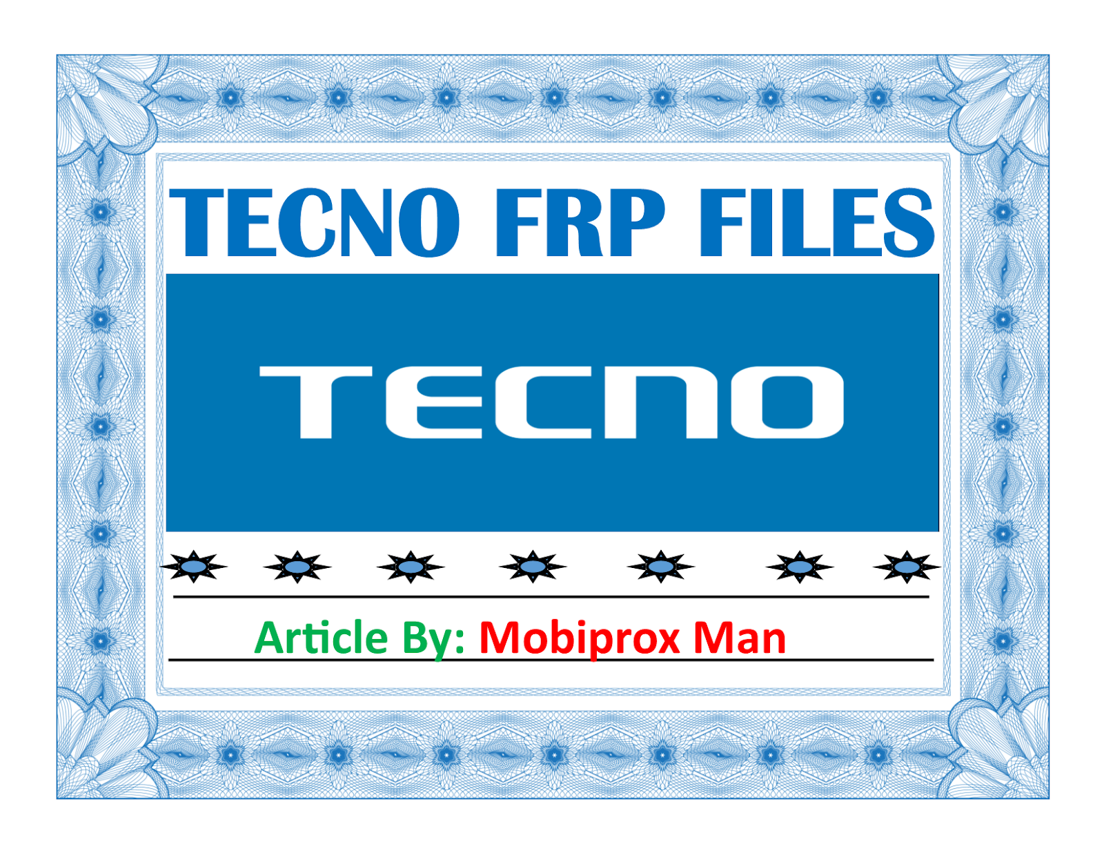 TECNO FRP FILES | MOBIPROX BLOGSPOT