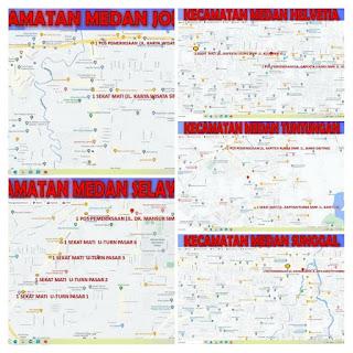 PPKM Diperpanjang, Satgas Covid -19 Kota Medan Sekat Mobilitas Masyarakat di 5 Kecamatan Zona Merah, Ini Daftarnya!