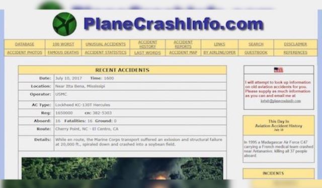 Plane Crash Info Situs Terlarang di Dunia