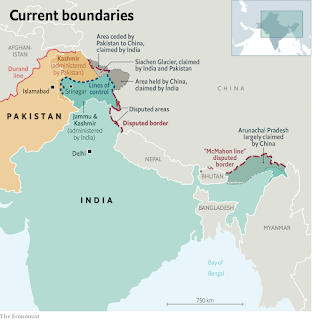 Line of actual control - India-China - Galwan Valley violence