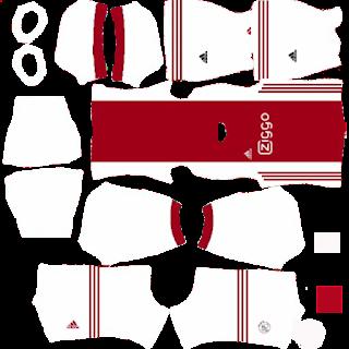 Ajax Amsterdam Eredivise Kit Dream League Soccer 2020