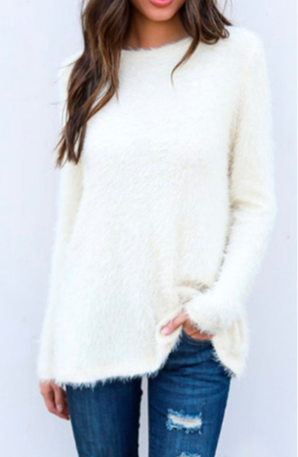 white winter top for girls