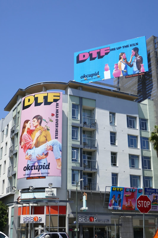 OkCupid DTF billboards