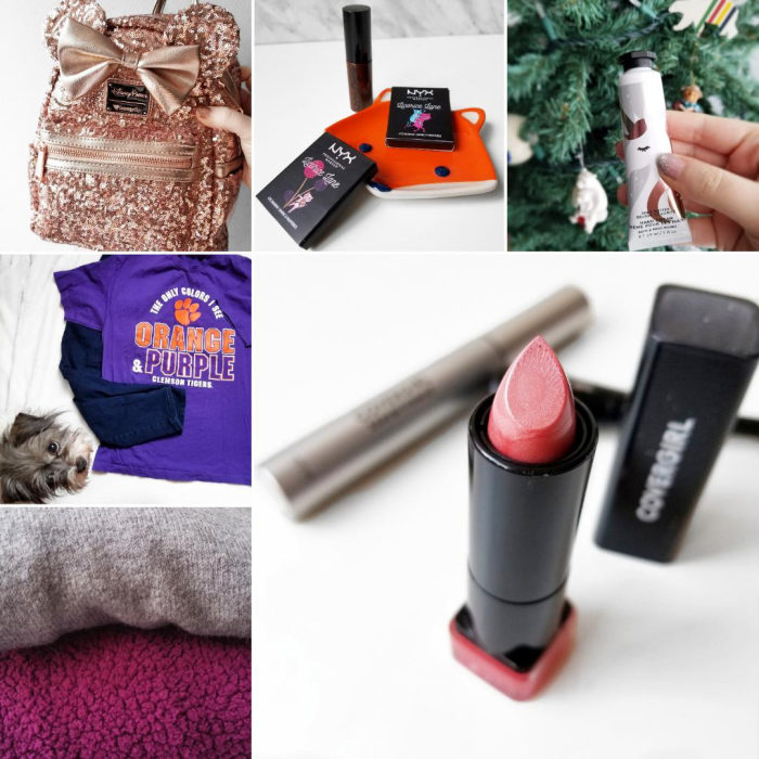 bblogger, bbloggers, bbloggerca, canadian beauty blogger, beauty blog, instamonth, instagram roundup, monthly roundup, loungefly, disney, minnie mouse, rose gold, sequins, nyx, advent calendar, 2019, bath and body works, hand cream, clemson tigers, covergirl, exhibitionist, mascara, get in line eyeliner, sweetheart blush lipstick, old navy, haul