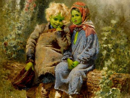 اصحاب البشرة الخضراء سكان جوف الارض