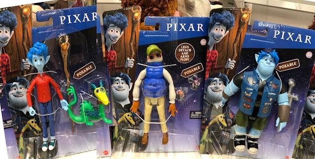 Pixar's Onward Mattel Figures of Ian, Barley and Wilden