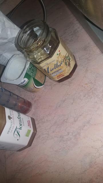 plumcake di segale al  miele con mele annurche e noci