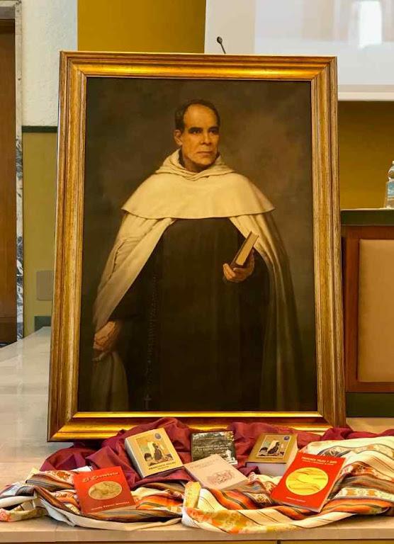Quadro do Beato Francisco Palau em Congresso a ele dedicado no Vaticano.  Instituto Teresianum, novembro 2018