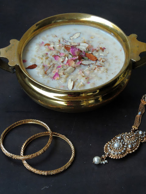 Whole wheat Kheer, Paal Payasam with wheat berries