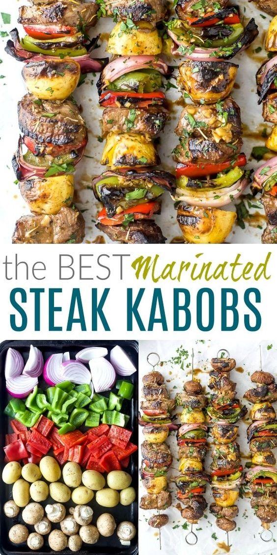 The Best Marinated Steak Kabobs