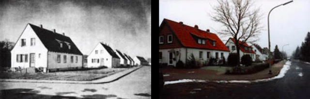 Rathenaustaße then and now Saarstraße