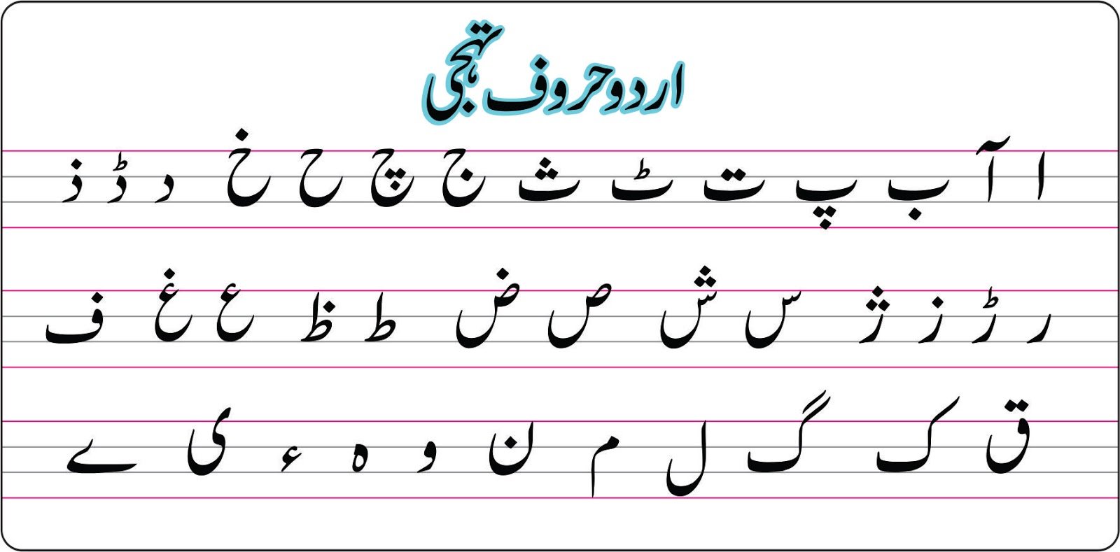 Urdu Haroof Worksheets