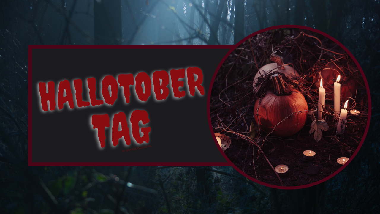 """A graphic that has """"Hallotober tag"""" written in red with a black background"""