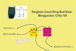 Tutorial Cara Pasang Relay 12vdc Untuk Pemasangan Alarm Motor Remote pada Yamaha Mio