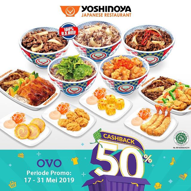 #Yoshinoya - #Promo Cashback 50% Hingga 30K Bayar Pakai OVO (s.d 31 Mei 2019)