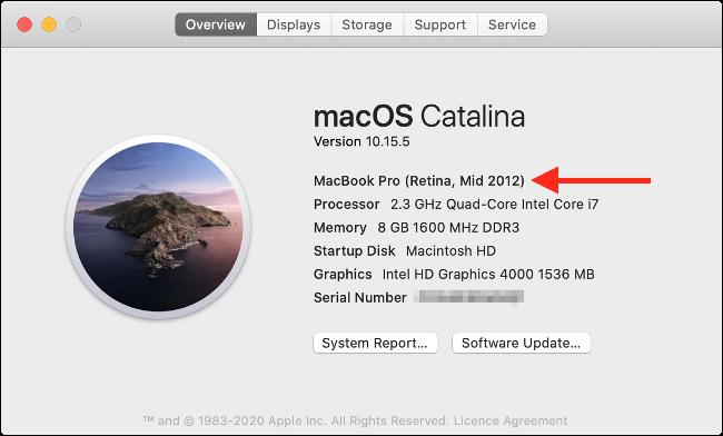 حول هذا Mac في macOS