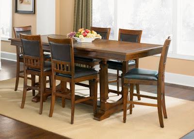 75 Model Meja Kursi Kayu Untuk Ruang Makan