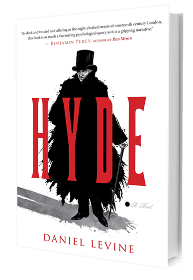 Book cover of Daniel Levine - Hyde.  Image source:  http://danielglevine.com/seehere/?page_id=5
