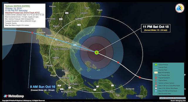 Suuntana Aasia | Taifuuni Sarika (KarenPH), Typhoon Sarika (KarenPH) | Blog | Bloki