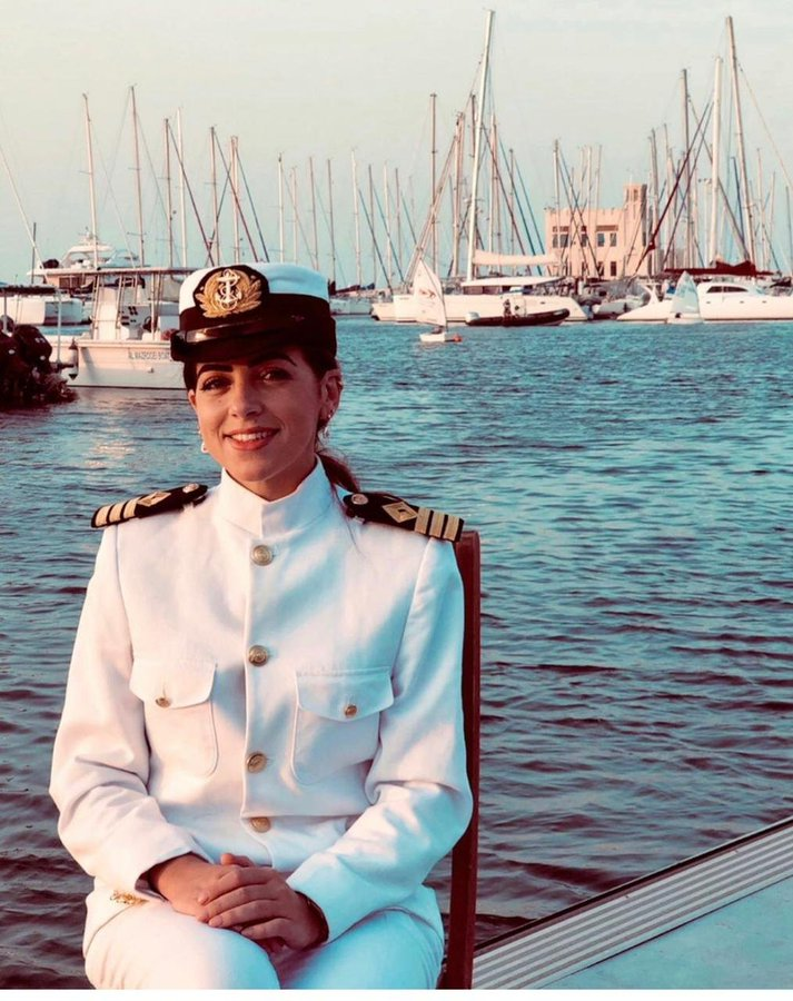 """Marwa El Selehdar is the first Egyptian captain to respond to allegations of delinquency of the """"Suez Container"""""""