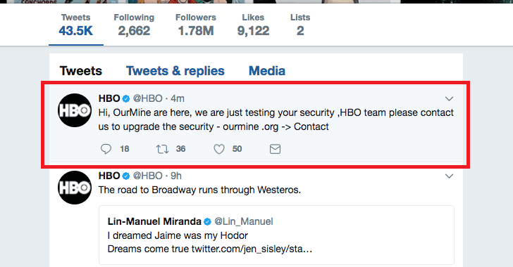 Game of Thrones And HBO Twitter Accounts Hacked