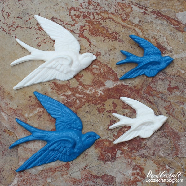 FastCast resin sparrows made using Silicone mold putty.