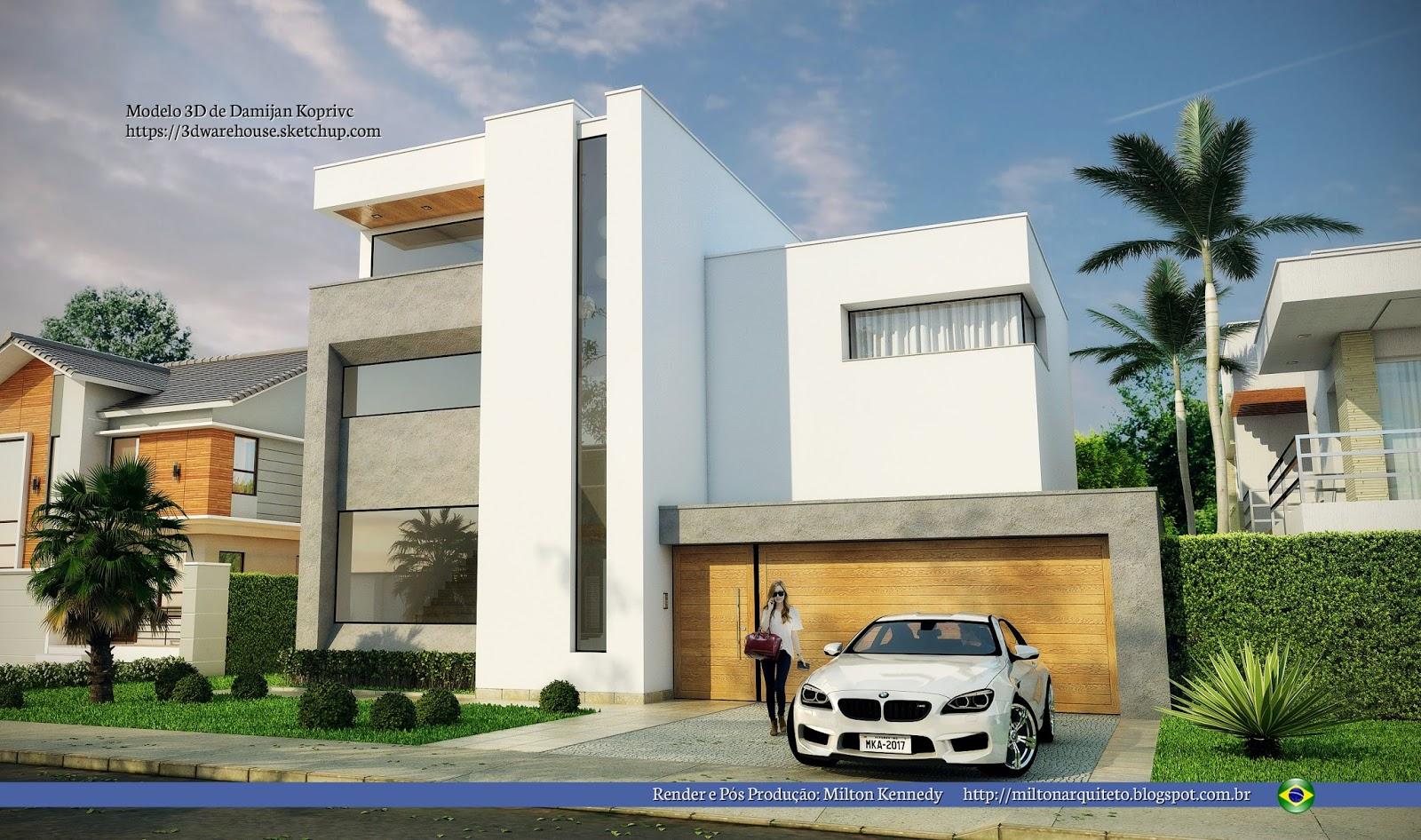 Casa moderna diseo de casa moderna en terreno en desnivel for Casa moderna