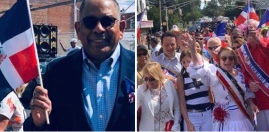 Aquino realiza mano a mano con la Diáspora  en desfile de NJ