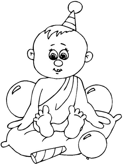 Gambar Mewarnai Bayi - 4