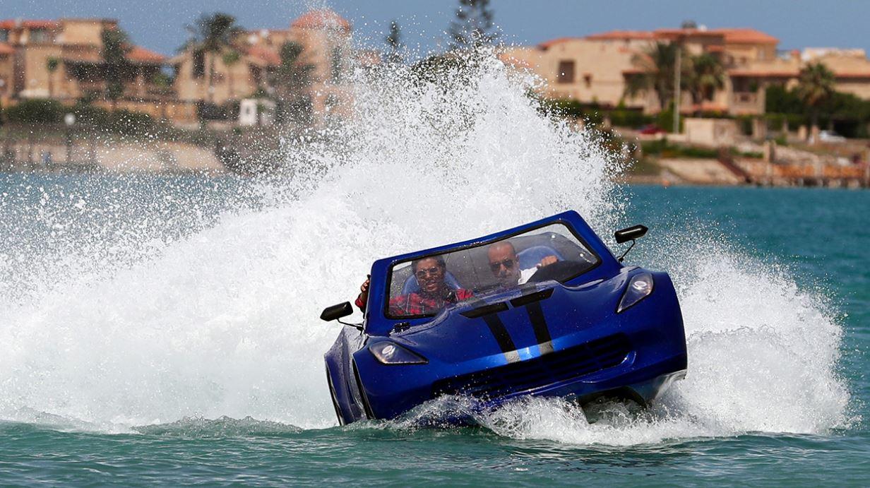 سيارة تمشي فوق الماء بصناعة ومواد خام مصرية