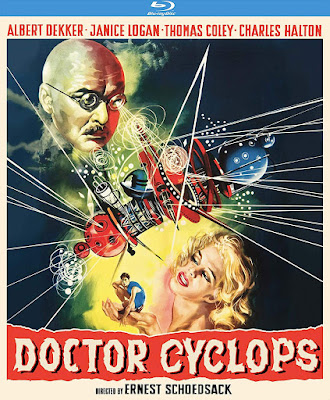 Cover art for Kino Lorber Studio Classics' new Blu-ray release of DOCTOR CYCLOPS!