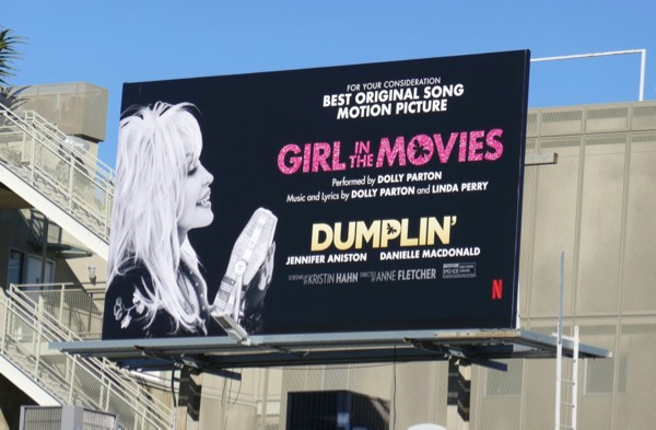 Dolly Parton Girl in Movies song Dumplin FYC billboard