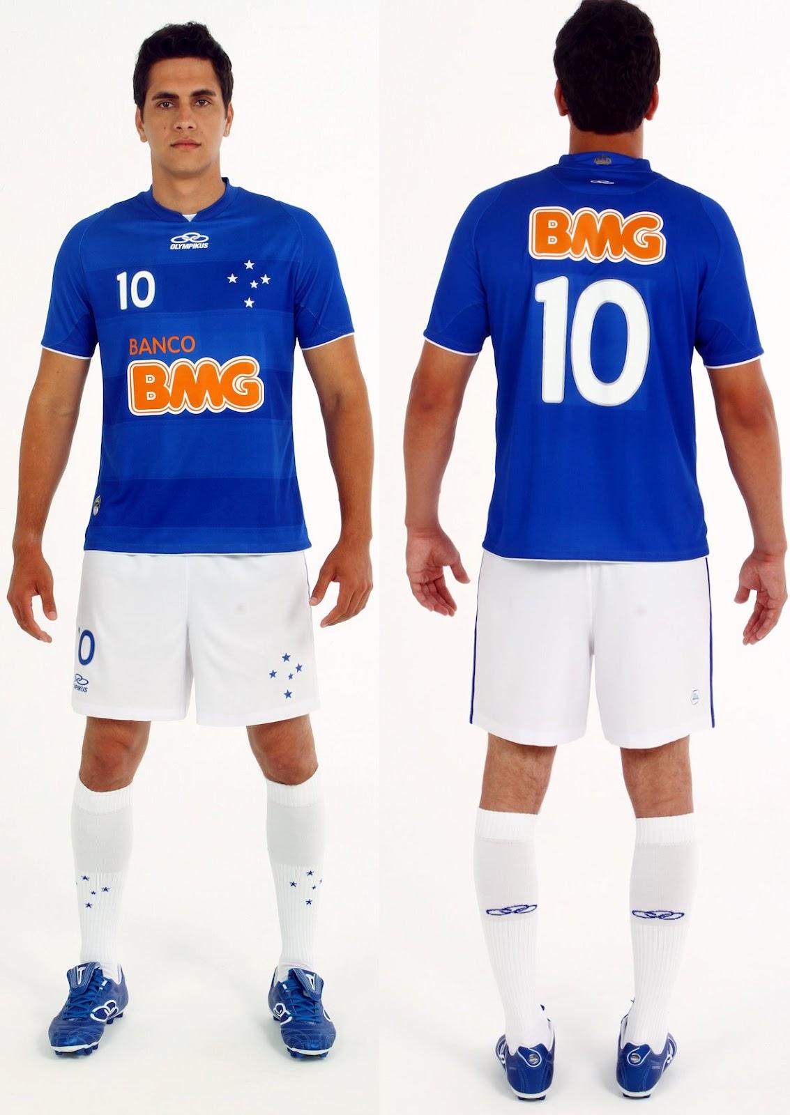 5487e45da0 Cruzeiro lança novos uniformes para temporada 2012 - Show de Camisas