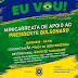 Movimento Direita Paraibana confirma manifestação pró-Bolsonaro neste domingo