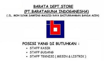 Lowongan Kerja Barata Dept Store Banda Aceh