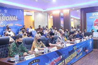 Kapolda Jambi Saksikan Secara Virtual Launching E-TLE Oleh Kapolri
