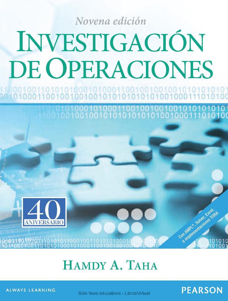 Investigación de operaciones, 9na. Edición – Hamdy A. Taha