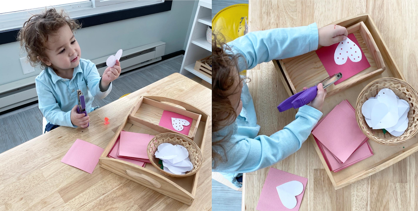 A fun and easy Valentine's Day card project that encourages fine motor, creativity and independence.