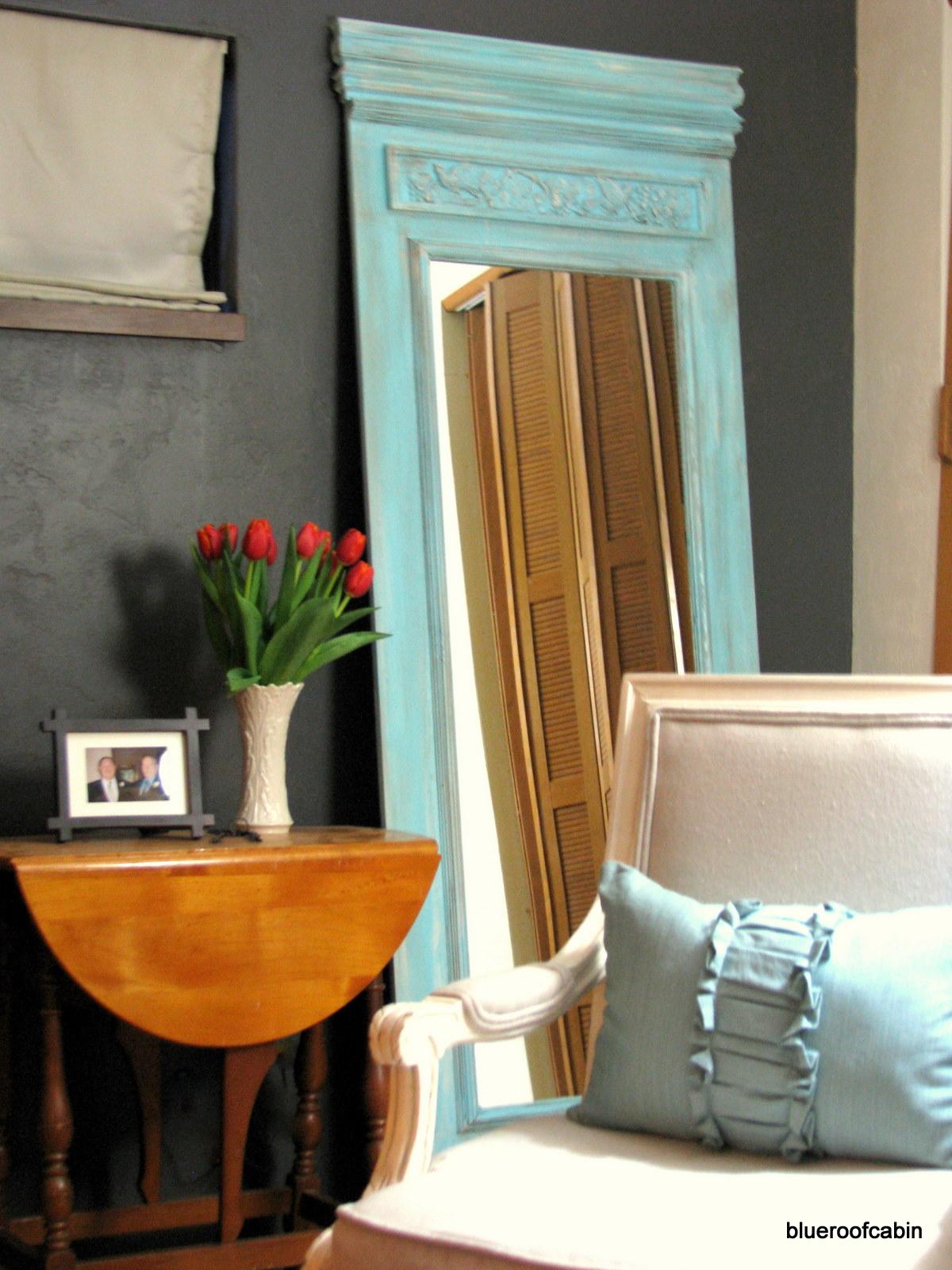 Remodelaholic  DIY Trumeau Floor Mirror Tutorial