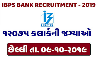 IBPS Recruitment for Clerk 12075 posts