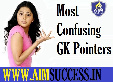 Most Confusing GK Pointers