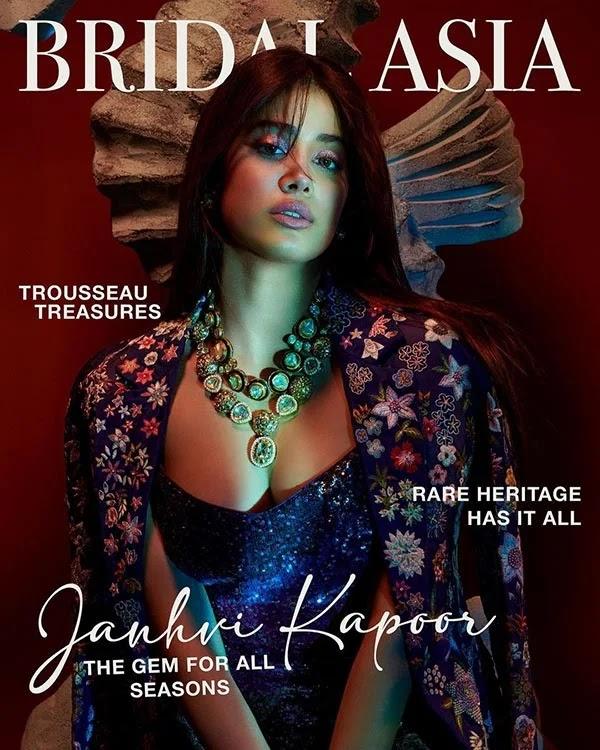 Janhvi Kapoor looks stunning hot for Bridal Asia magazine photoshoot