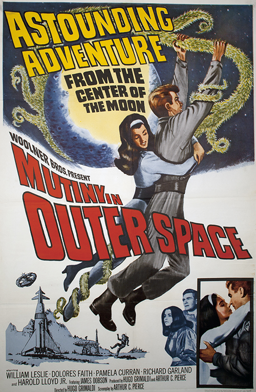 Mutiny in Outerspace - Vintage Classic Movie Poster Sci-Fi, classic posters, free download, free posters, free printable, graphic design, movies, printables, retro prints, theater, vintage, vintage posters, vintage printables, sci-fi movie poster